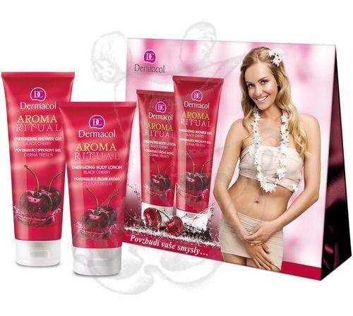 Dermacol Aroma Ritual Black Cherry 7983 250ml AR Energizing Shower gél + 200ml AR Energizing Body Lotion 450ml