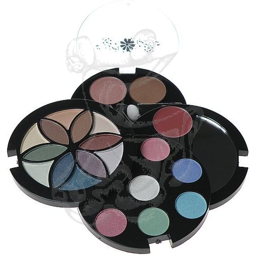Makeup Trading Fashion Flower Compact 15,1 g 0,6g Lipgloss + 2,08g Blusher + 12,42g Eye Shadow (Sada dekoratívnej kozmetiky) 15ml